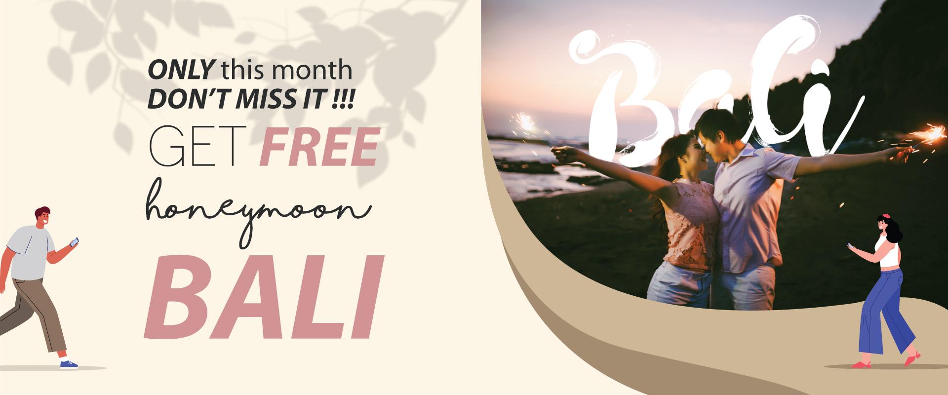 BUlan CINta dapatkan FREE Honeymoon ke BALI